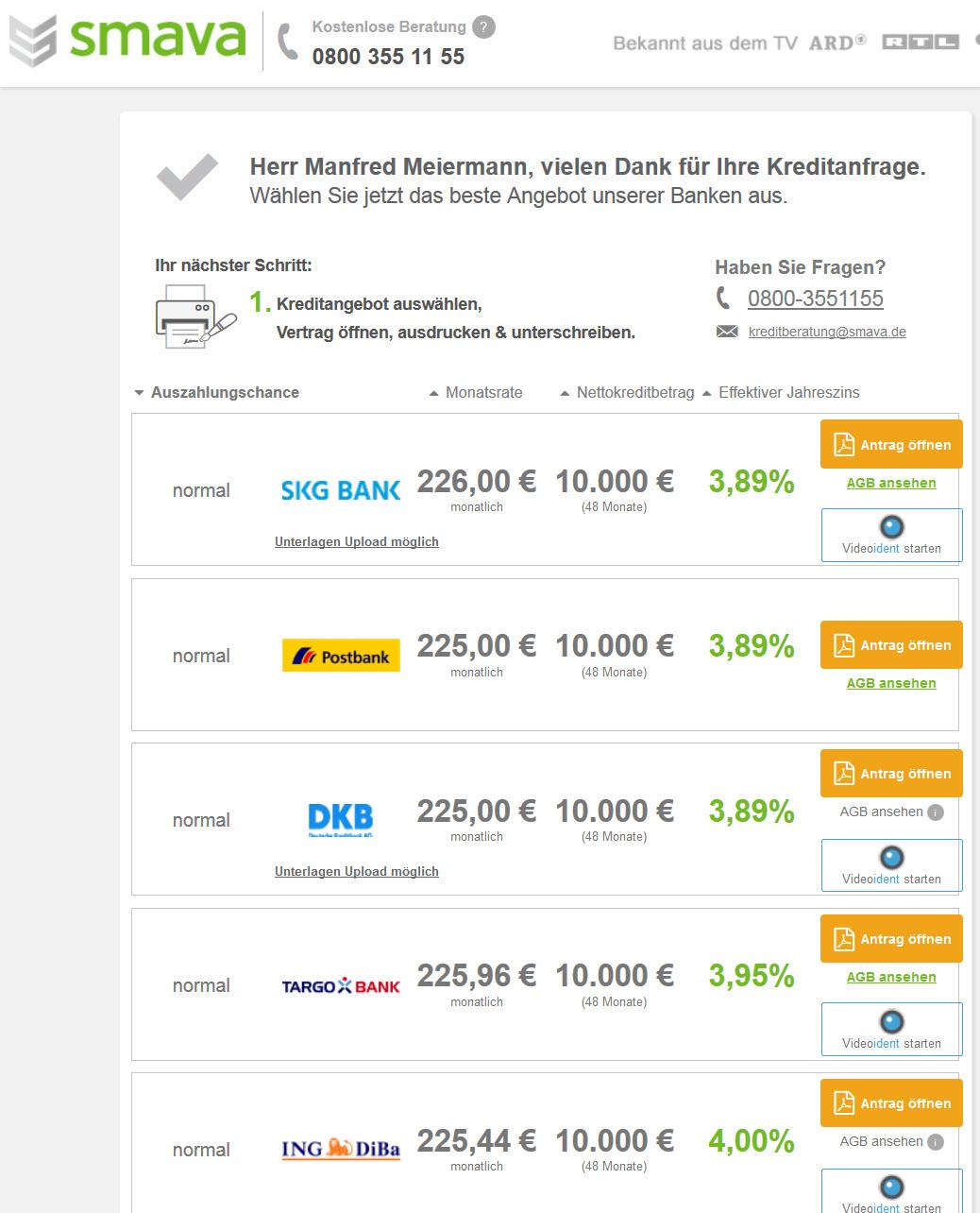 Eur Ratenkredit Fur  Monate